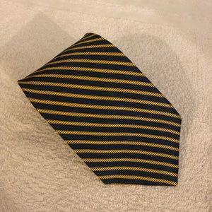 Brooks Brothers Blue & Gold Stripe Silk Tie
